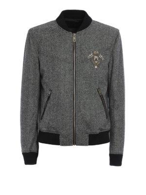 Dolce & Gabbana: bombers - Heraldic Sicilia wool bomber jacket