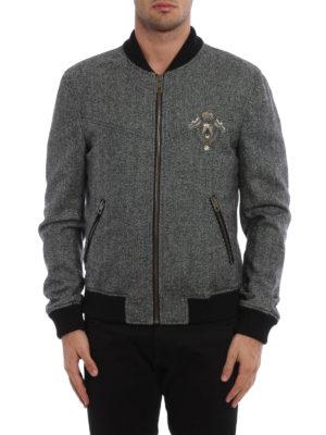 Dolce & Gabbana: bombers online - Heraldic Sicilia wool bomber jacket