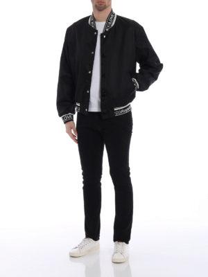 Dolce & Gabbana: bombers online - Logo knitted edges bomber jacket