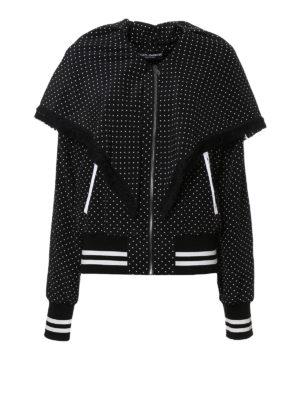 Dolce & Gabbana: bombers - Polka dot silk bomber jacket