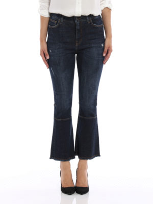 Dolce & Gabbana: bootcut jeans online - Used effect flared crop jeans