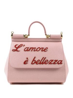 DOLCE & GABBANA: bauletti - Sicily M rosa L'amore è bellezza