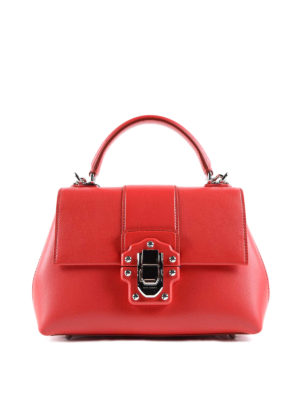 Dolce & Gabbana: bowling bags - Lucia smooth leather handbag