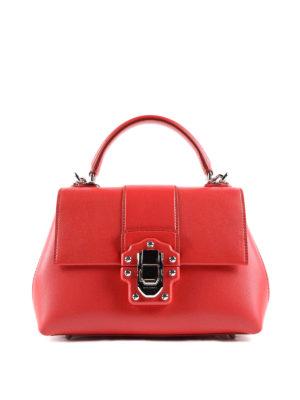 Dolce & Gabbana: bowling bags - Lucia smooth leather handbag