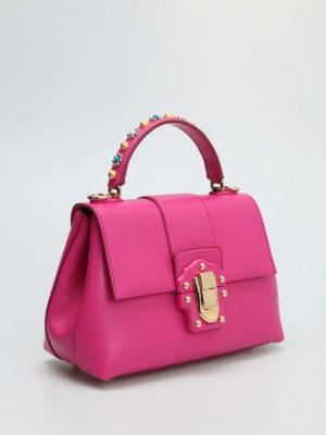 Dolce & Gabbana: bowling bags online - Lucia embellished leather handbag