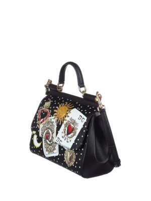 Dolce & Gabbana: bowling bags online - Sicily dauphine leather medium bag