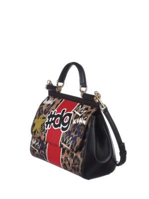 Dolce & Gabbana: bowling bags online - Sicily medium animalier print bag