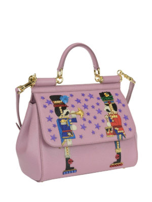 Dolce & Gabbana: bowling bags online - Sicily medium bag with appliques