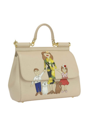 Dolce & Gabbana: bowling bags online - Sicily medium bag with Family patch