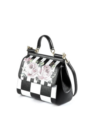 Dolce & Gabbana: bowling bags online - Sicily medium chequered leather bag
