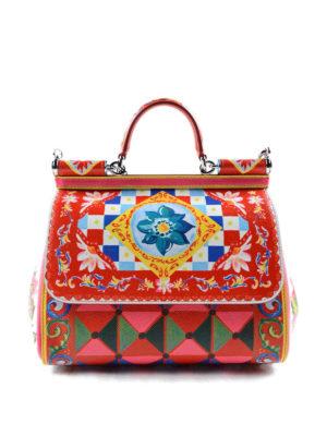 Dolce & Gabbana: bowling bags - Sicily Mambo print medium bag