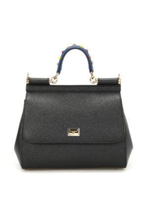 Dolce & Gabbana: bowling bags - Sicily medium leather bag