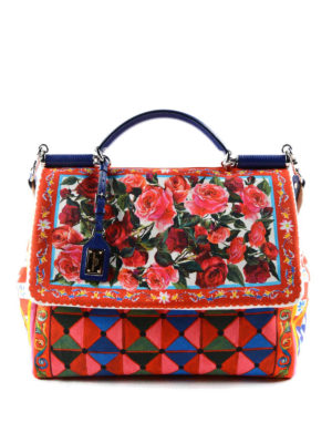Dolce & Gabbana: bowling bags - Sicily Soft Mambo print tote