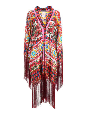 Dolce & Gabbana: Capes &  Ponchos - Mambo print silk cape