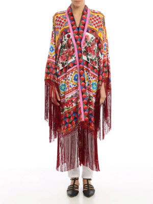 Dolce & Gabbana: Capes &  Ponchos online - Mambo print silk cape