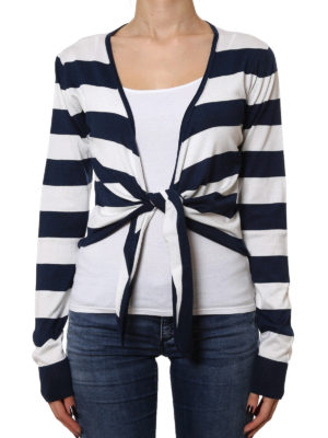 Dolce & Gabbana: cardigans online - Silk tie hem cardigan