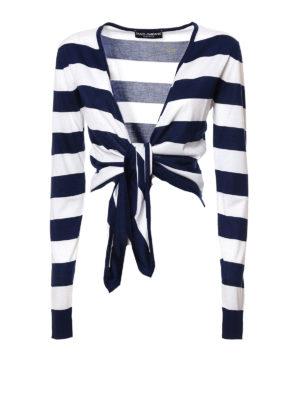 Dolce & Gabbana: cardigans - Silk tie hem cardigan