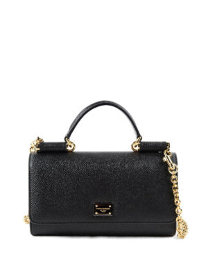 Dolce & Gabbana: Cases & Covers - Dauphine leather phone bag
