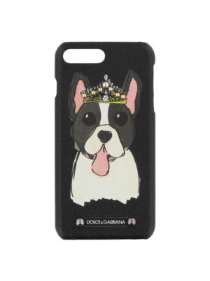 DOLCE & GABBANA: custodie e cover - Cover stampa cane per Iphone 7 plus