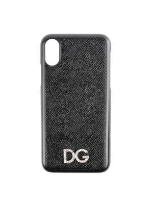 DOLCE & GABBANA: custodie e cover - Cover per iPhone X con cristalli