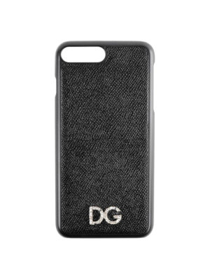 DOLCE & GABBANA: custodie e cover - Cover iPhone 7 Plus e 8 Plus con cristalli