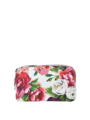 DOLCE & GABBANA: custodie e cover - Beauty case con stampa floreale