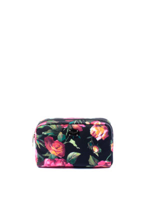 Dolce & Gabbana: Cases & Covers - Floral print nylon beauty case