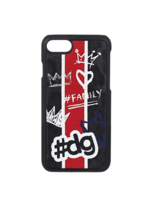Dolce & Gabbana: Cases & Covers - Graffiti printed iPhone 7 cover