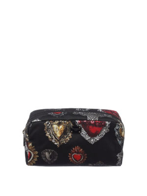 Dolce & Gabbana: Cases & Covers - Hearts print nylon beauty case