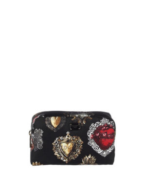 Dolce & Gabbana: Cases & Covers - Hearts print small beauty case
