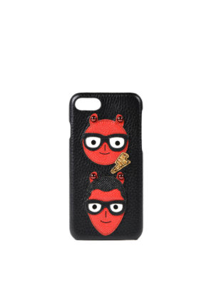 Dolce & Gabbana: Cases & Covers - iPhone 7 #DGFamily leather case