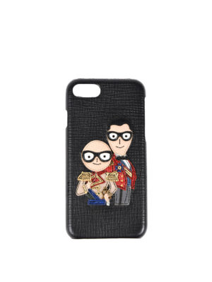 Dolce & Gabbana: Cases & Covers - iPhone 7 leather case