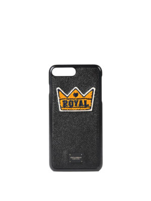 Dolce & Gabbana: Cases & Covers - iPhone 7 Plus leather case
