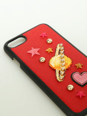Dolce & Gabbana: Cases & Covers online - Embroidered leather Iphone7 case