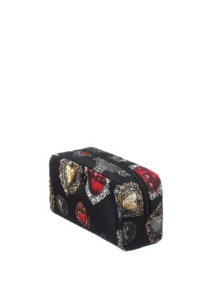 Dolce & Gabbana: Cases & Covers online - Hearts print nylon beauty case