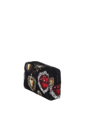 Dolce & Gabbana: Cases & Covers online - Hearts print small beauty case