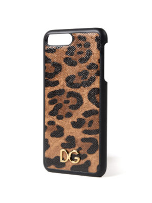 Dolce & Gabbana: Cases & Covers online - Leo print iPhone 7 plus cover