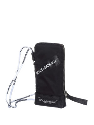 Dolce & Gabbana: Cases & Covers online - Logo detailed nylon smartphone case