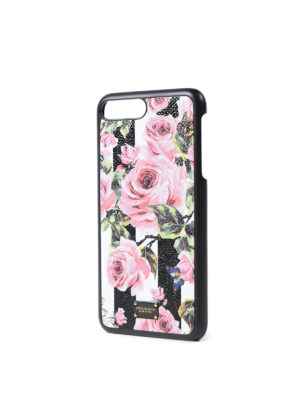 Dolce & Gabbana: Cases & Covers online - Rose striped iPhone 7 plus cover