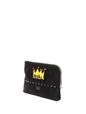Dolce & Gabbana: Cases & Covers online - Royal patch studded nylon pouch