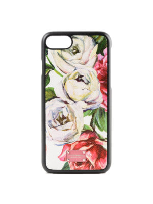 DOLCE & GABBANA: custodie e cover - Cover iPhone 7 stampa peonie