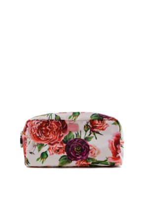 DOLCE & GABBANA: custodie e cover - Beauty case in nylon stampa peonie