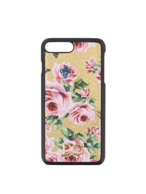 DOLCE & GABBANA: custodie e cover - Cover iPhone 7 plus con stampa rose