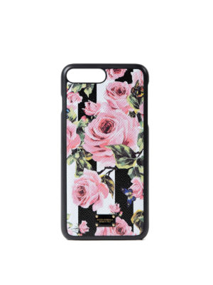 Dolce & Gabbana: Cases & Covers - Rose striped iPhone 7 plus cover