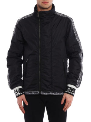 Dolce & Gabbana: casual jackets online - Hashtag grosgrain bands jacket