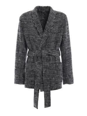 DOLCE & GABBANA: giacche casual - Giacca lunga stile vestaglia in lana e alpaca