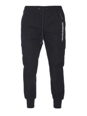 Dolce & Gabbana: casual trousers - Charm detailed cotton trousers
