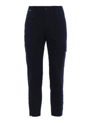 Dolce & Gabbana: casual trousers - Cotton twill crop cargo trousers