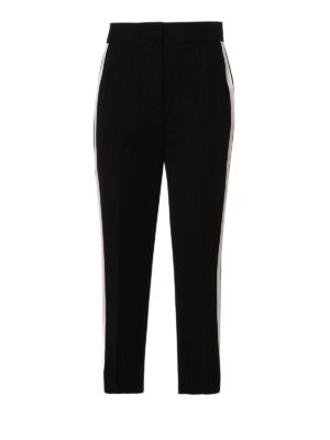 Dolce & Gabbana: casual trousers - Cropped wool trousers