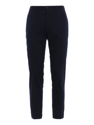 Dolce & Gabbana: casual trousers - DG embroidery cotton twill chinos